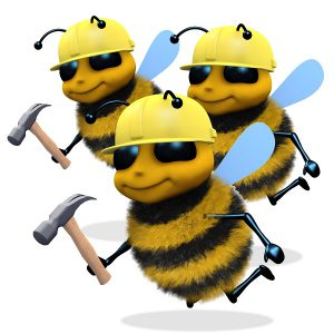 Busy builder bees icon