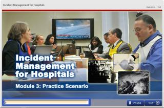 Screenshot of DelValle Incident Management for Hospitals elearning module