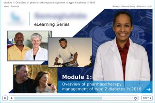 Screenshot of pharmaceutical elearning course