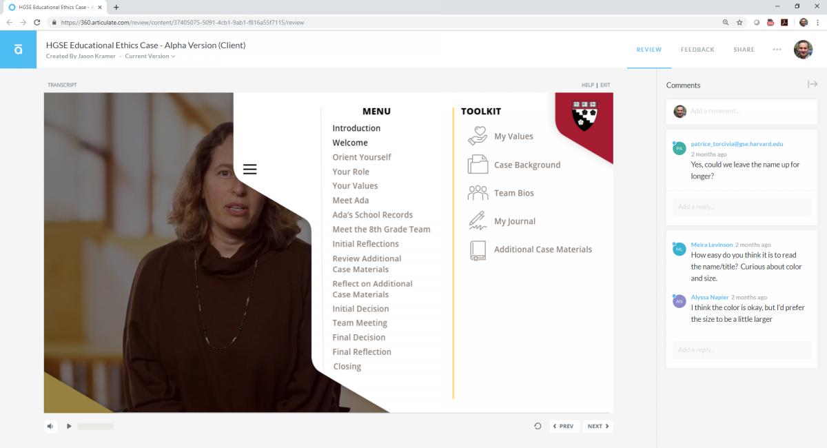 Review tools screenshot