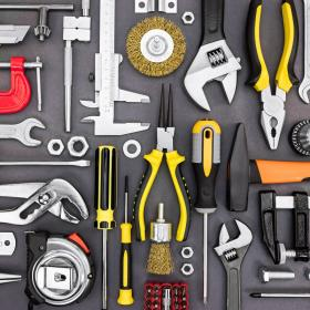 Image of tools on a wall