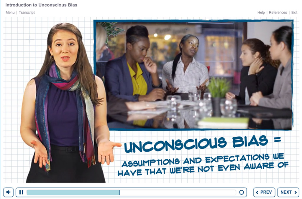Screenshot of Unconscious Bias course